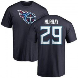 Men's DeMarco Murray Tennessee Titans Name & Number Logo T-Shirt - Navy