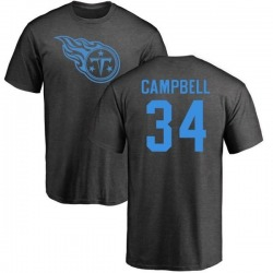 Men's Earl Campbell Tennessee Titans One Color T-Shirt - Ash