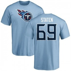 Men's Jimmy Staten Tennessee Titans Name & Number Logo T-Shirt - Light Blue