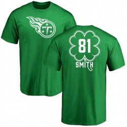 Men's Jonnu Smith Tennessee Titans Green St. Patrick's Day Name & Number T-Shirt