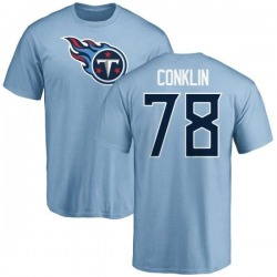 Youth Jack Conklin Tennessee Titans Name & Number Logo T-Shirt - Light Blue