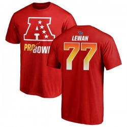 Youth Taylor Lewan Tennessee Titans AFC 2019 Pro Bowl Red Name & Number T-Shirt